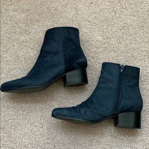 Urban Outfitters Blue Calf Hair Booties  - 8